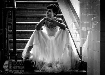 Braut, Hochzeit, braut auf der treppe, fotograf donaueschingen