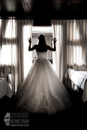 Brautfoto, Brautsilhuette, hochzeitsfotografie