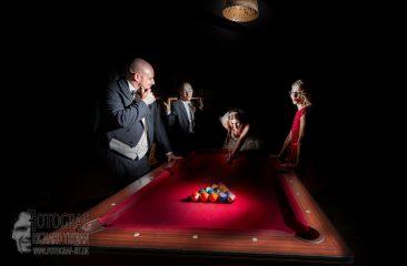 Brautpaar pool billiard, hochzeit pool, hochzeitsfoto poolbilliard