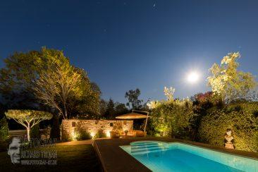architektur garten bei nacht, gartenfotografie, garden photo